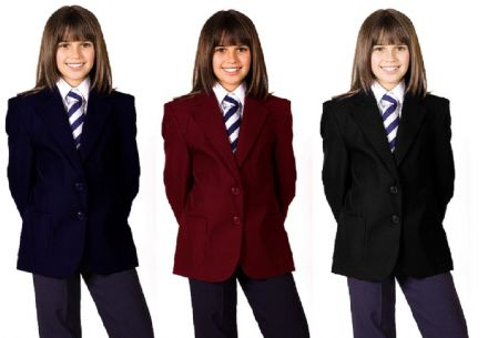 Girl School Uniform Blazers, New 100% Polyester, Teflon Coated, Blazer Coat Jacket